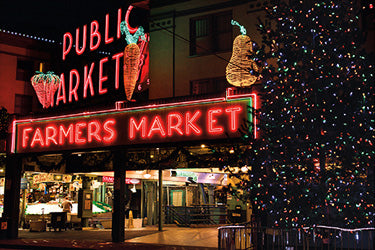 Holiday at the Pike Place Market Haseltine Card