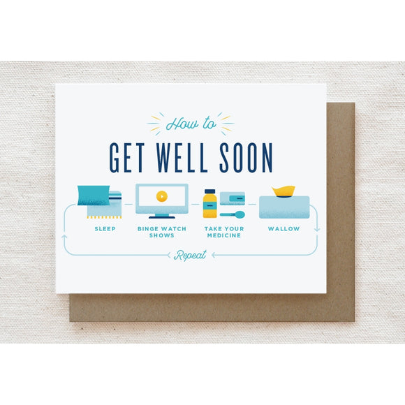How To Get Well Soon - Greeting Card