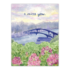 I Miss You Card by Yardia