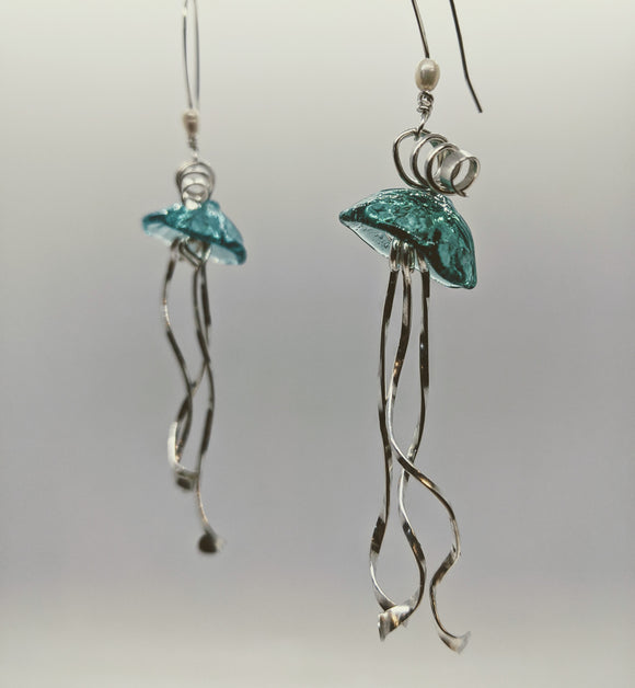 Jellyfish Earrings by Designs in Glass