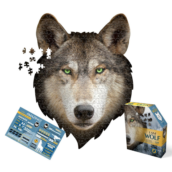 I Am Wolf 550 Piece Puzzle by Madd Capp