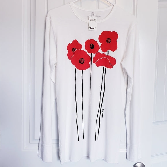 Marushka Thermal Long Sleeve Red Poppies