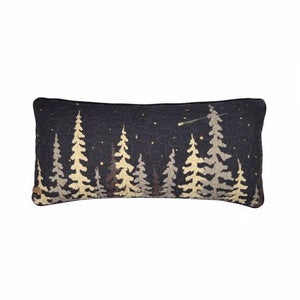 Moonlit Cabin Decorative Pillow - Rectangle
