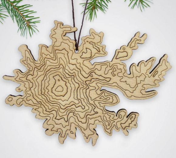 Mt Rainier Topography Ornament