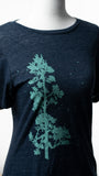 Navy Crew - Pine Tree Flock Tee Shirt