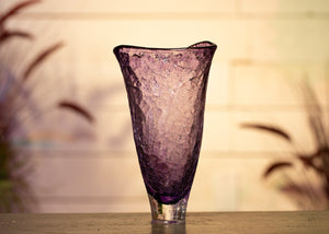 Crackled Glass Vase
