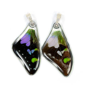 Purple Spotted Swallowtail Butterfly Earrings
