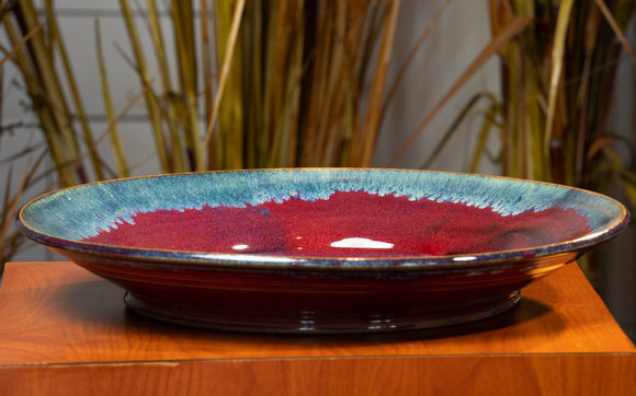 Cobalt & Blue Low Ceramic Dish (Companion to Bowl)