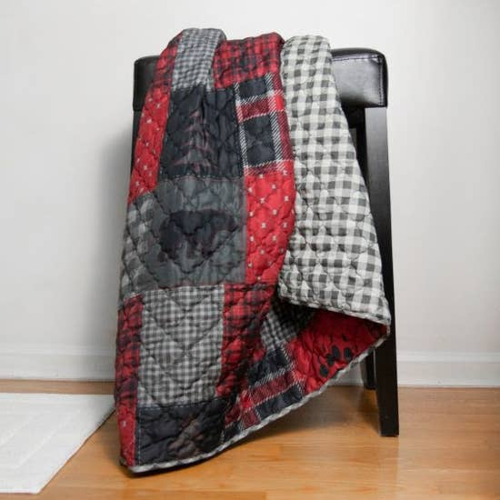 Red Forest Throw