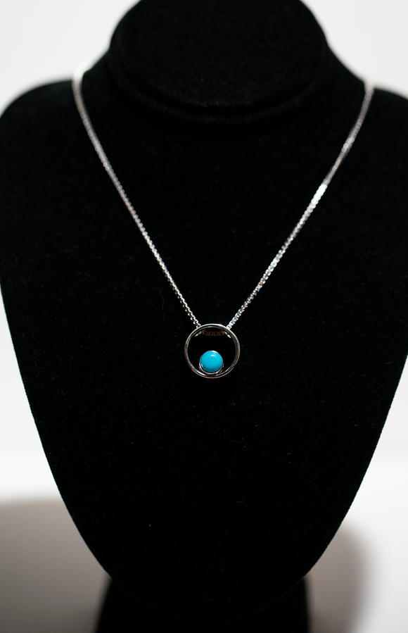 Turquoise Slide Necklace
