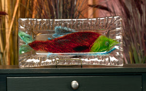 Fused Glass Salmon Tray