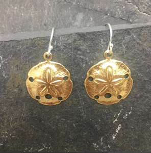 Gold Sandollar Earrings