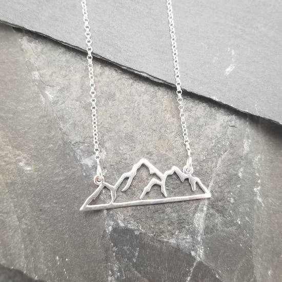 Silver Mountain Cutout Necklace