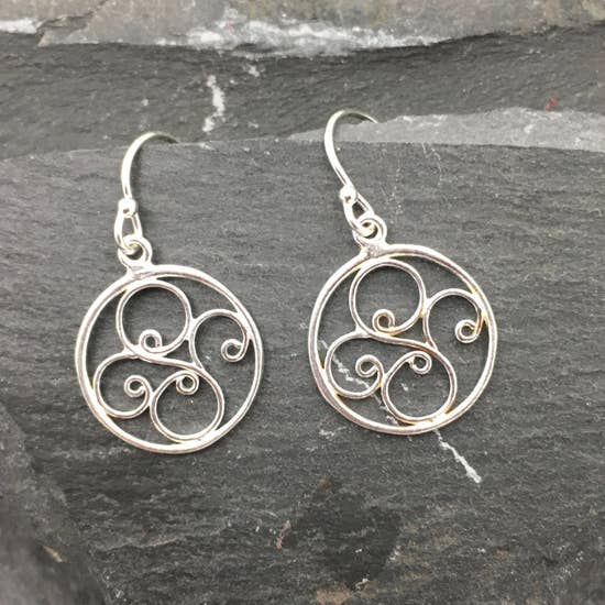 Silver Small Round Filigree Earrings