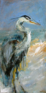 """Sir Heron"" - Christopher Mathie Fine Art"