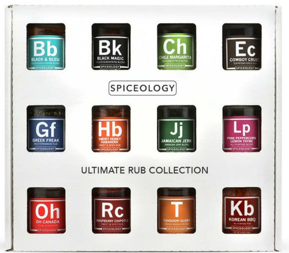 Spiceology - Ultimate Rub Collection - 12 mini rub