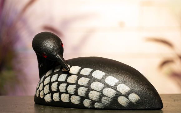 Loon - Backward Facing Hand Carved Decoy