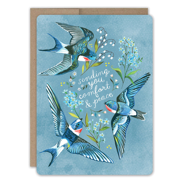 Swallows Sympathy Card