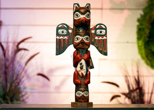 Eagle Boy Native Totem