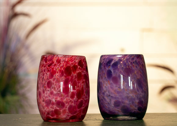 Short Fused Glass Vase