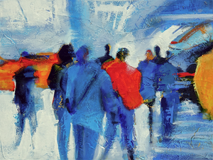 """Urban Procession"" - Chuck Gumpert Paintings"