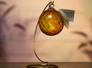 Blown Glass Ornament - Golden Yellow