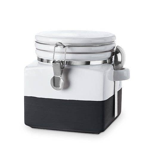 Pantry: Chalk Dipped Ceramic Canister