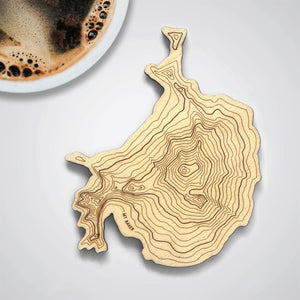 Mt Baker Topography Coaster - Single
