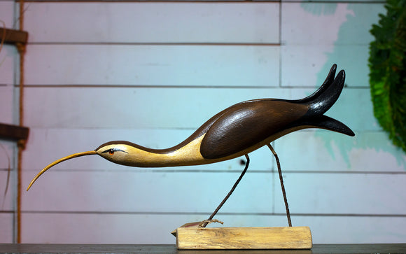 Curlew Hand Carved Decoy