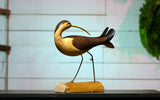 Hand Carved Wooden Curlew With Turned Head