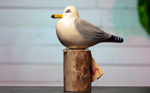 Seagull Hand Carved Decoy