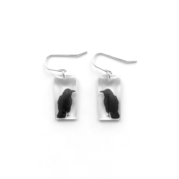 Small Crow Earrings