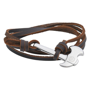 Passion Bracelet - Silver and Brown Axe