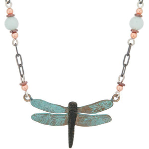Dragonfly 2 Beaded Necklace