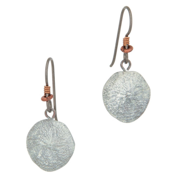 Sand Dollar Earrings, Fishhook