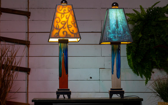 Ceramic and Glass Lamps