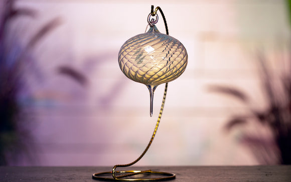 Blown Glass Ornament - Hint of Yellow