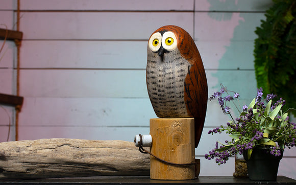 Wood Barn Owl - Richard Morgan Carved Decoy