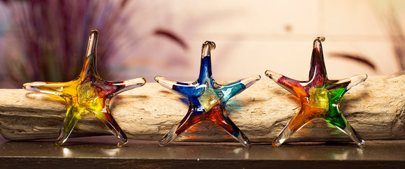 Starfish Blown Glass In Assorted Colors