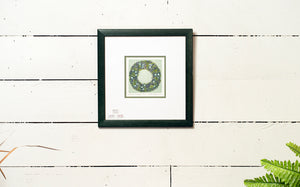 Bay Leaf and Poppy Wreath Signed Limited Edition Print by Helgeson