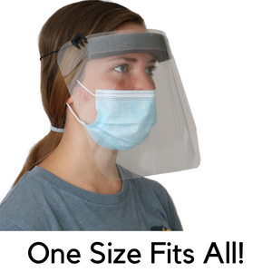 BULK | Protective Face Shields | Adjustable  Strap and Extreme Lightweight  | Family Owned USA Company