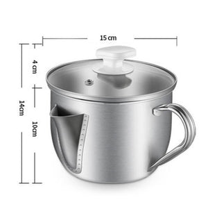 Stainless Steel Grease Filter Pot-Cooking pot-The Morning Star