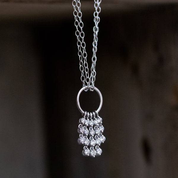.40ctw Cascade Waterfall Pendant Necklace