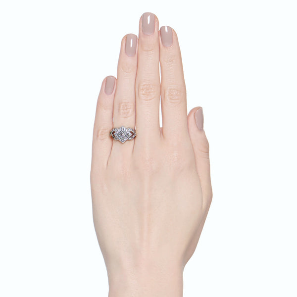 .50ctw Princess & Round Brilliant Diamond Dinner Ring
