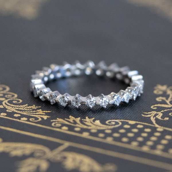.68ctw Single Cut Diamond Eternity Wedding Band