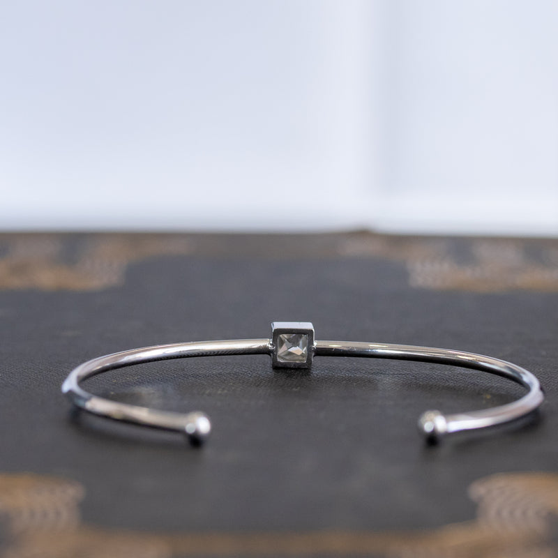 .75ct French Cut Bangle, 18kt White Gold