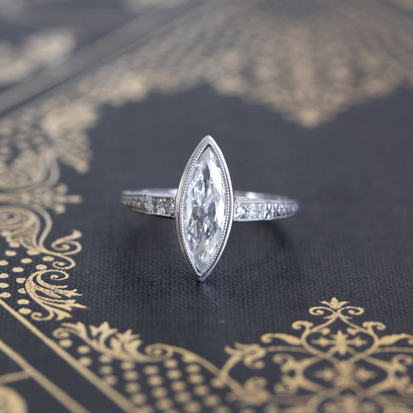 .93ctw Edwardian Marquise Ring