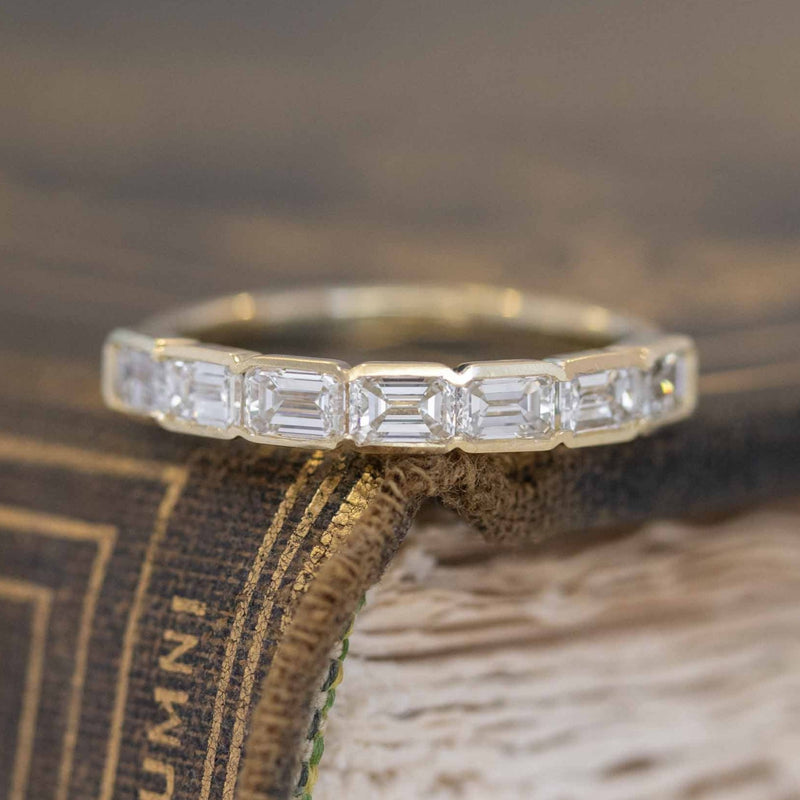 1.02ctw 7-Stone Emerald Cut Diamond Band