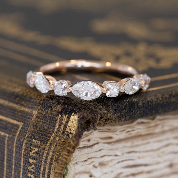 1.05ctw Mixed Marquise & Old Mine Cut Diamond Band