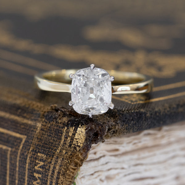 1.09ct Old Mine Cut Diamond Solitaire, GIA I SI1